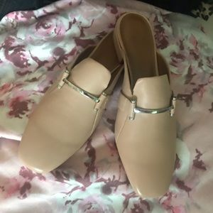 H by Halston  Tan with silver mules